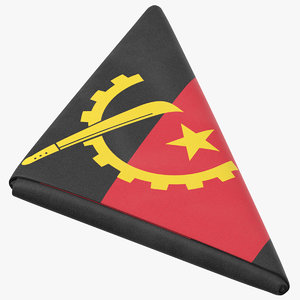 flag folded triangle angola model