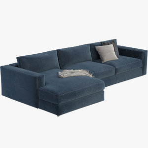 3D reid sectional chaise