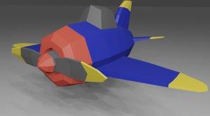 3D world war airplane