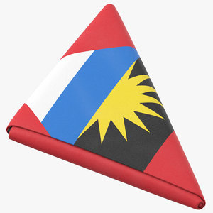 3D flag folded triangle antigua