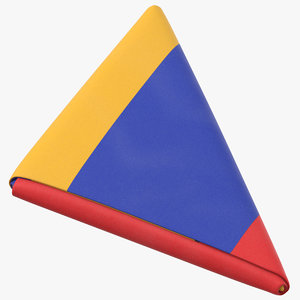 flag folded triangle armenia 3D model