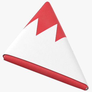 3D model flag folded triangle bahrain