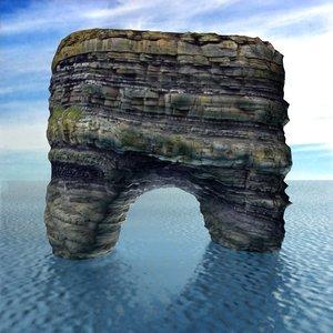 sea rocks 3D model