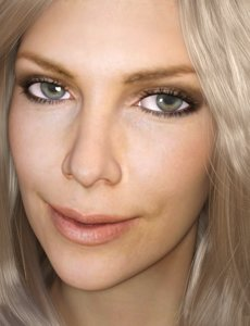 actress charlize theron 3D
