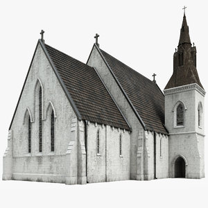 3D old church