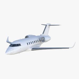 3D bombardier challenger 600 model