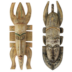 3D african masks model