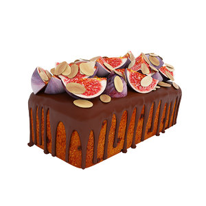 3D cake fig almond model