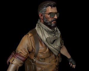 3D soldier man