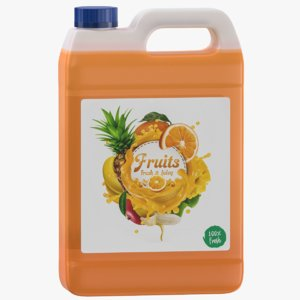 3D fruits juice gallon jug
