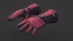 ski gloves model