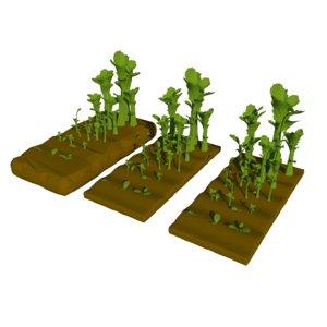 farm plant 3D model