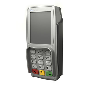 3D model electronic terminal cashless payment