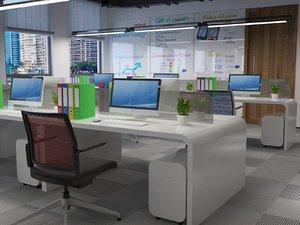 interior office open-space area model