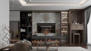 3D livingroom diningroom dining