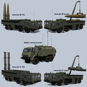 iskander missile systems vehicle 3D model