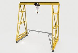 3D model industrial crane comes separate
