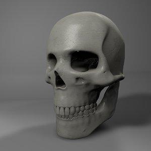 human skull l750 3D