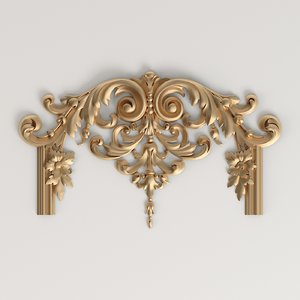 3D carved decor classic style