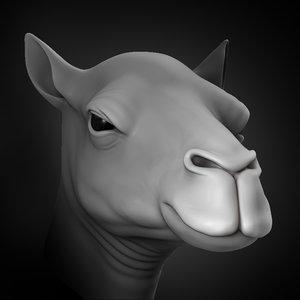 camel head animal 2020 3D model