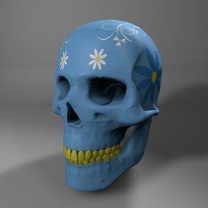 3D model calavera skull l752