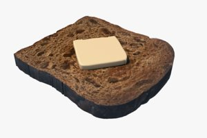 cinnamon bread raisin food 3D model