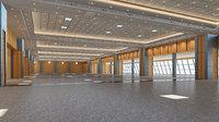 Congress Center Hall 3D Model