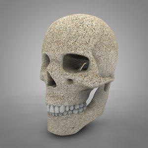 stone human skull l749 3D model
