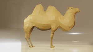 camel blender 3D model