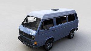 3D volkswagen t3 transporter syncro