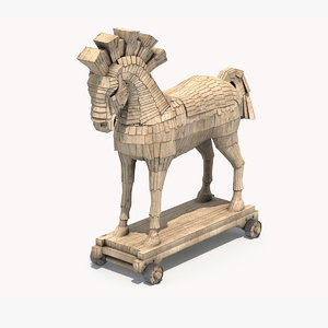 3D mythology horse trojan