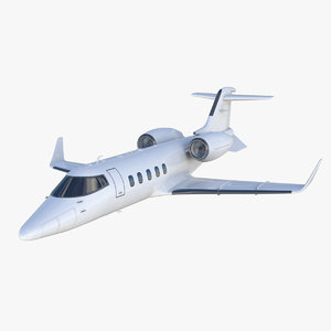 3D learjet 60 private jet