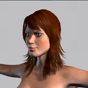 character rigged naked 3D