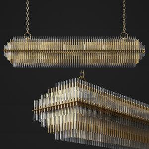emile linear chandelier 3D model
