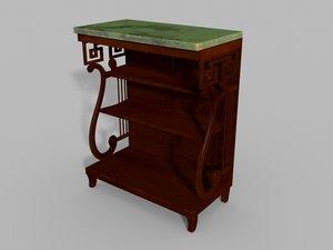 3D antique regency console table