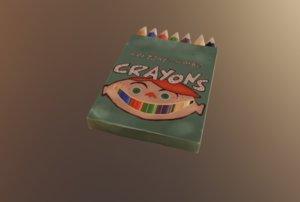 handpainted pencils box 3D
