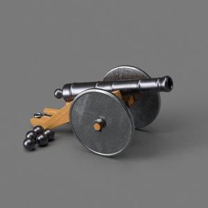 cannon metallic 3D