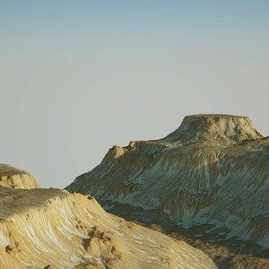 snow mountain 3D model