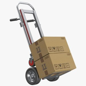 3D real hand truck