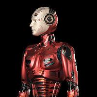 Futuristic Robot Man 2.5 Rigged