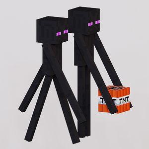 3D model mob enderman