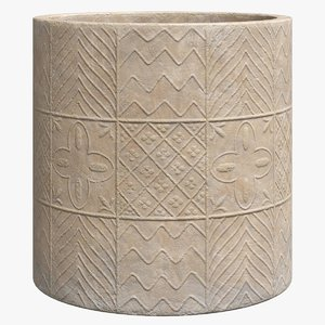 alpilles terracotta planter 3D