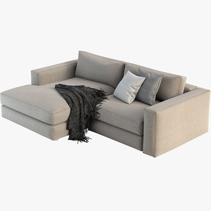 reid sectional chaise 3D