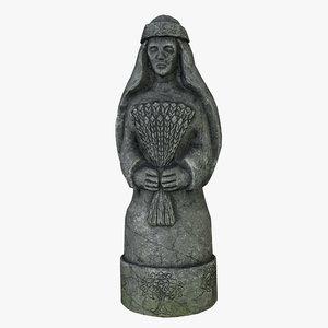 3D celtic idol 06 model