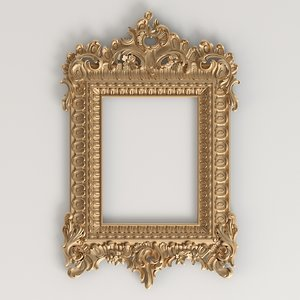 carved classic frame 3D