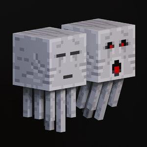 3D ghast mob minecraft