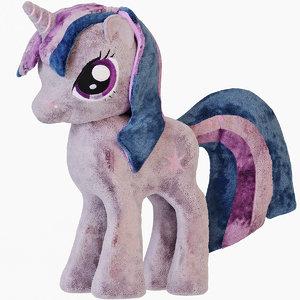 3D soft toy pony twilight