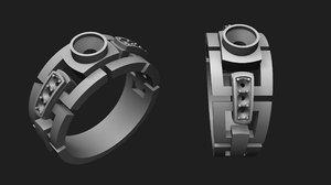 jewellery ring diamonds modell 3D