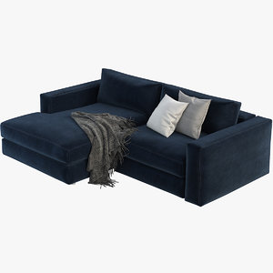 reid sectional chaise 3D model