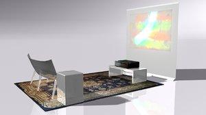 3D projector screen model